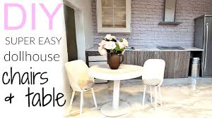 Image Barbie Doll Youtube Diy Very Easy Dollhouse Chairs Table