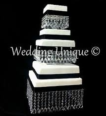 3 of 4 crystal wedding cake stand square mutiple tier chandelier cake stand
