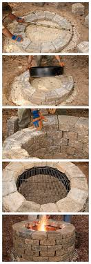 build your own inground fire pit