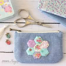hexie purse zipper pouch tutorial free sewing pattern diy patchwork zipper bag
