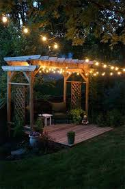 patio outdoor string lights in backyard wedding reception breathtaking yard and lighting ideas will fascinate you