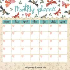 monthly planner free download monthly planner with butterflies free vector clipart and