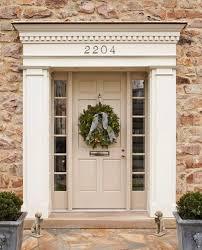 beige color feng shui front door