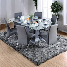 glass dining table. Furniture Of America Ziana Contemporary Rectangular Tempered Glass Dining Table - Free Shipping Today Overstock 19319382 Overstock.com