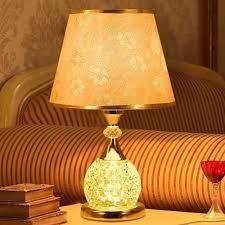 Tischlampe Kristall Tischlampe Gold Silber Stoff Kristall