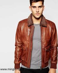 2017 canada men brown men esprit leather flight jacket with sherpa collar hx7600491