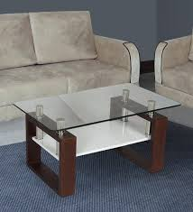 modern glass top center table in