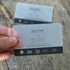 Translucent Plastic Business Cards Frosted Plastic Cards
