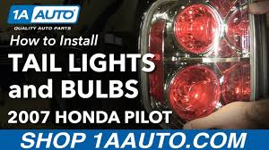 2006 Honda Pilot Brake Light Bulb Replacement How To Replace Tail Light Assembly And Bulbs 06 08 Honda Pilot