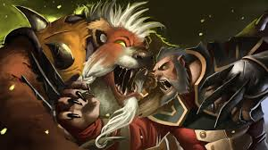 lone druid vs lycan wallpaper more http dota2walls com lycan