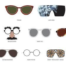 Chart Of Famous Eyewear Fashion Infographics Popsugar Fashion Middle East