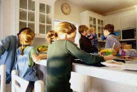 busy kitchen. Beige Walls And White Cabinets Are A Serene Background In Busy Kitchen. Kitchen