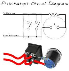 on off switch to the controller pressing the button allows a restricted current to flow between the input and output contacts on the power switch to precharge the capacitors inside the