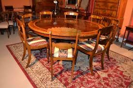 vintage dining table 8 chairs 6 ft round mahogany ref no 03137a regent antiques