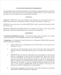 8+ Sample Employment Separation Agreements | Sample Templates