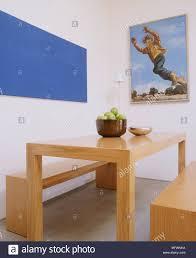 Eine Moderne Minimalistische Esszimmer Einfache Holz Tisch