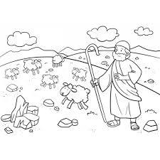 Tek00043 Geloof Schapen Herder Kleurplatenshop