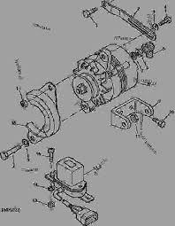 john deere 950 alternator wiring john image wiring alternator and mounting bracket 2 tractor compact utility on john deere 950 alternator wiring