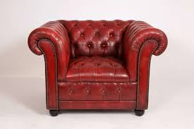 creative of red leather club chair with vintage pair of red leather chesterfield club chairs at