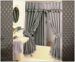 Gorgeous Elegant Double Swag Shower Curtains Designs with Double