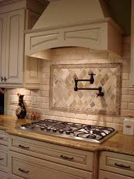 french country kitchen tile backsplash. french country decorative hood and pot filler love the counter bump out for stove top kitchen tile backsplash o