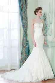 mermaid high neck sheer back lace beaded wedding dress with pearls