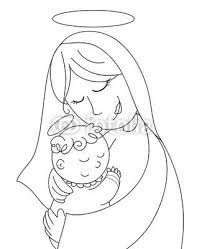 Madonna Con Bambino Disegni Disegni Bambini E Madonna