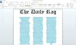Microsoft Newspaper Article Template Newspaper Microsoft Word Template Seraffino Com