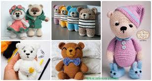Crochet Teddy Bear Pattern Simple Amigurumi Crochet Teddy Bear Toys Free Patterns