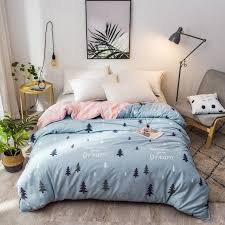 cartoon stars pattern 1 piece duvet cover with zipper cotton quilt or comforter or blanket case