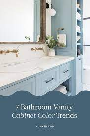 7 Bathroom Vanity Cabinet Colors You Ll See Everywhere In 2020 Hunker Popular Bathroom Colors Unique Bathroom Vanity Cabinet Colors
