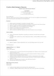 Graphic Design Resume Objective Examples Best of Designer Resume Example Resume Sample For Graphic Designer Sample