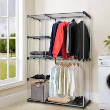 closet organizer garment rack portable clothes hanger storage rack home shelf hanger with 47 9 piece on huangrui668 s dhgate com