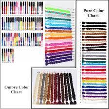 Ombre Braiding Hair Color Chart China 100 Kanekalon Ombre Two Tone Jumbo Braid Synthetic