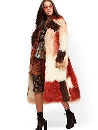 Multi-Color Faux-Fur Coat - NY&C