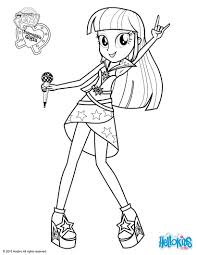 Twilight Sparkle Sings Coloring Pages