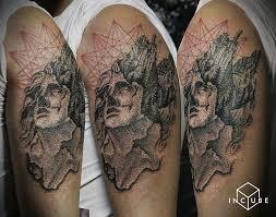 тату разные на плече фото татуировки в стиле дотворк разные 37664