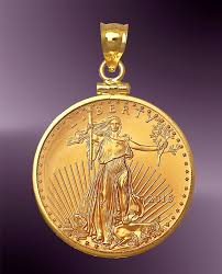 25 dollar gold eagle coin pendant pcm8 25e touch to zoom