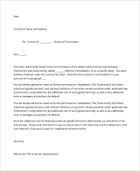 sample letter to terminate contract sample of termination letter 9 examples in word pdf