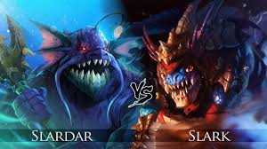 dota 2 slark vs slardar one click battle rematch youtube