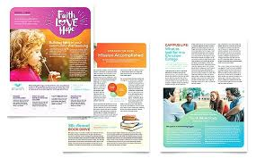 Newsletter Templates Pages Front Page 4 Column Free Community Newsletter Templates