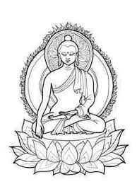 チベット系の釈迦魔尼仏の塗り絵の下絵 大人の塗り絵ー無料新着ぬりえ