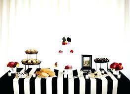 black and white striped round tablecloth plastic tent al s