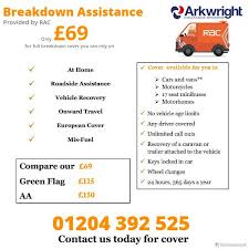rac special rate from arkwright insurance brokers call us today on 01204 392 525 or email us your details at quote arkwrightinsurance co uk visit