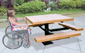 make picnicking accessible to everyone on your grounds with wheelchair accessible commercial picnic tables our ada compliant picnic tables are designed to