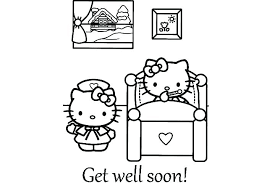 Feel Better Coloring Pages Printable Get Well Soon Colouring Surah