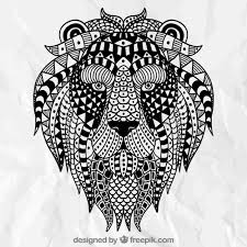 Free Vector | Abstract <b>ethnic lion</b>