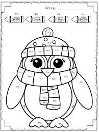 Winter Coloring Worksheets Coloring Pages For Graders First Grade