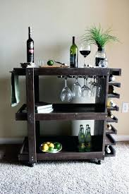 best bar cart images on mini wood wooden plans