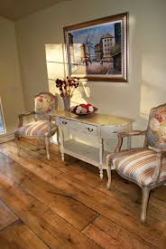 looking at the floor only wide plank pine flooring